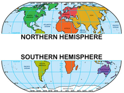 Be clear, In which Hemisphere you locate